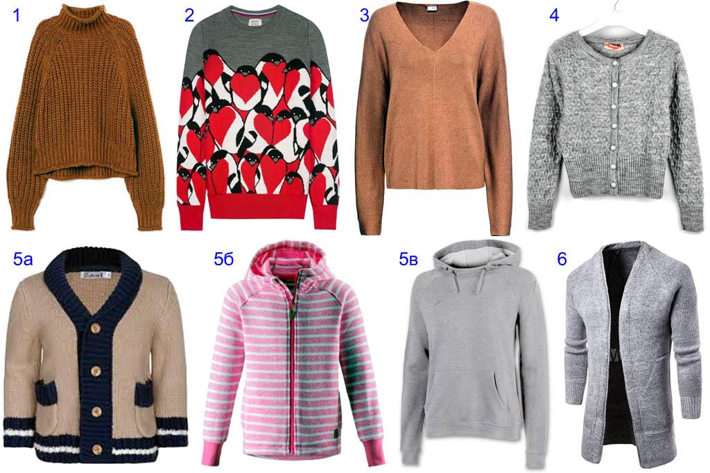 Разновидности свитеров